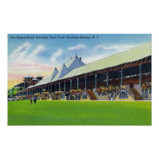 Racegrounds View of the Grand Stand at Track Poster