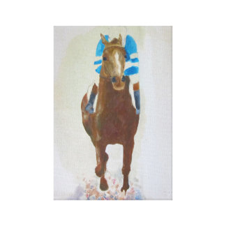 Racehorse acrylic painting canvas print