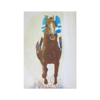 Racehorse acrylic painting canvas print