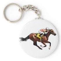 Racehorse and Jockey Keychain
