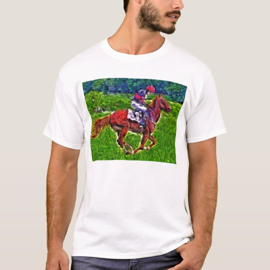 Racehorse and jockey T-Shirt
