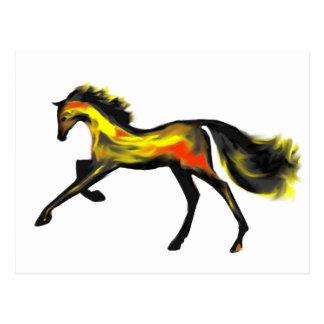 Racehorse Greats Deco Thoroughbreds Postcard