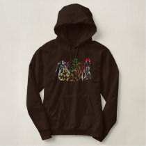 Racehorse Logo Outline Embroidered Hoodie