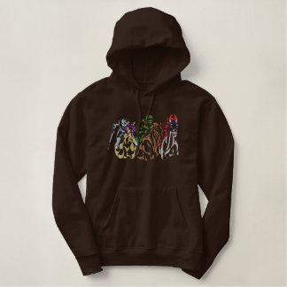 Racehorse Logo Outline Embroidered Hoody