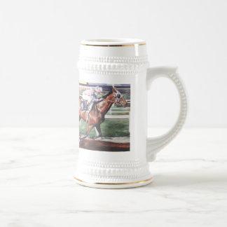 """Racehorse Mug"" Beer Stein"