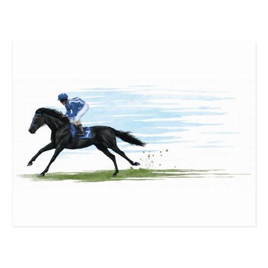 racehorse postcard