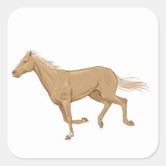 Racehorse Square Sticker