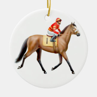 Racehorse Trotting to the Post Ornament