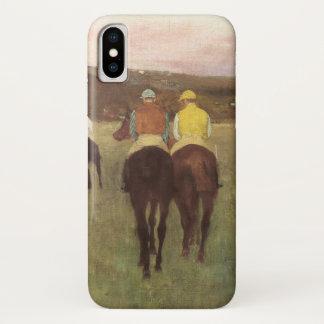 Racehorses at Longchamp by Edgar Degas iPhone X Case