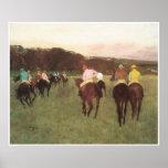 Racehorses at Longchamp, c. 1873-75 - Edgar Degas Posters