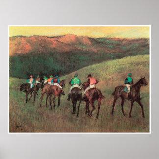 Racehorses in a Landscape, 1894, Edgar Degas Poster