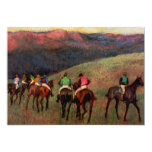 "Racehorses in a Landscape jockeys horse art Degas 5"" X 7"" Invitation Card"