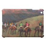 Racehorses in a Landscape jockeys horse art Degas iPad Mini Cover