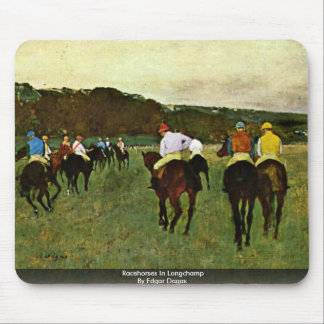 Racehorses In Longchamp By Edgar Degas Mouse Pad