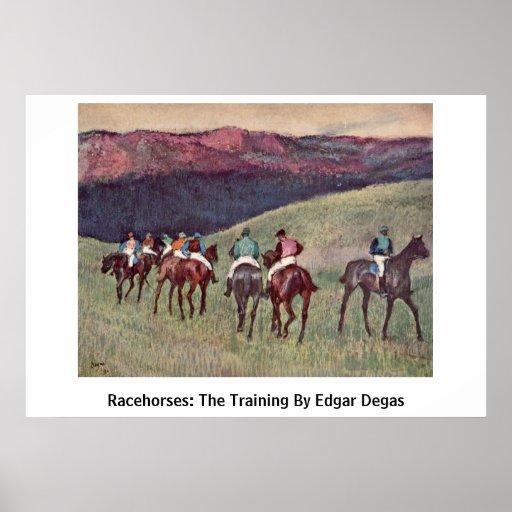 Racehorses: The Training By Edgar Degas Print