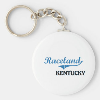 Raceland Kentucky City Classic Basic Round Button Keychain