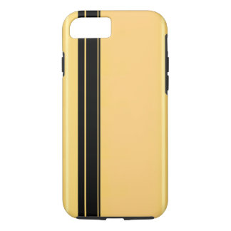 Racer Black on Gold iPhone 7/7, Tough iPhone 7 Case
