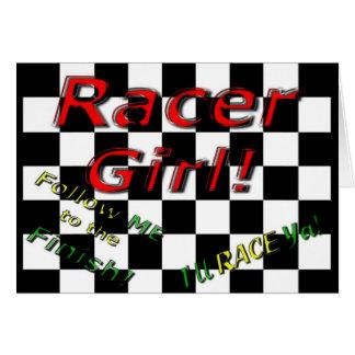RACER GIRL CARD