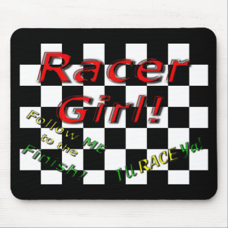 RACER GIRL MOUSE PAD