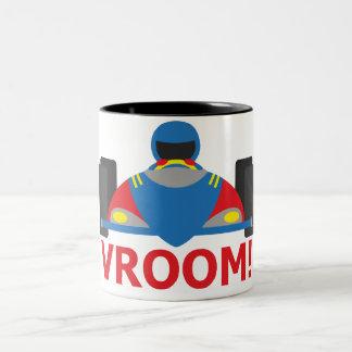 Racer Vroom Two-Tone Coffee Mug