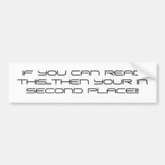 RACERS CREED BUMPER STICKER