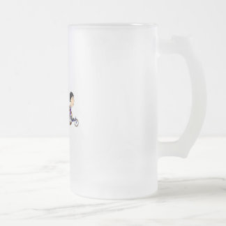 Racers Frosted Glass Beer Mug