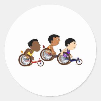 Racers Round Sticker