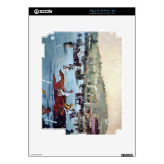 Races at the Bois de Boulogne by Edouard Manet Decal For The iPad 2