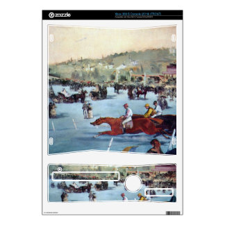 Races at the Bois de Boulogne by Edouard Manet Xbox 360 S Skin