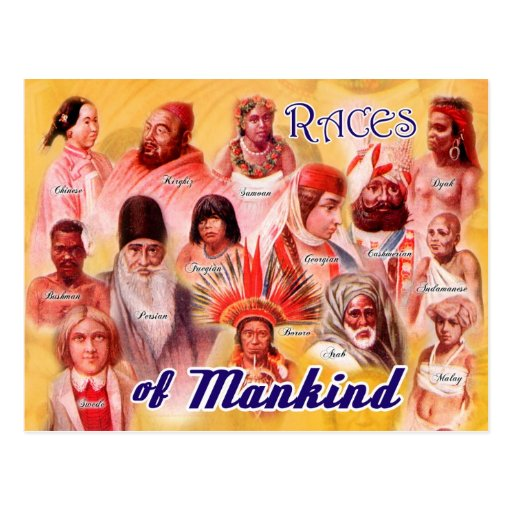 Races of Mankind Post Card