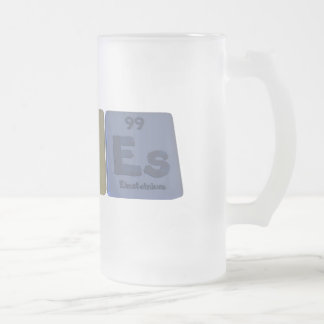Races-Ra-C-Es-Radium-Carbon-Einsteinium.png Frosted Glass Beer Mug