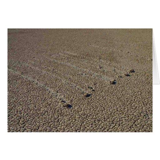 Racetrack Playa Mud Tracks Greeting Card