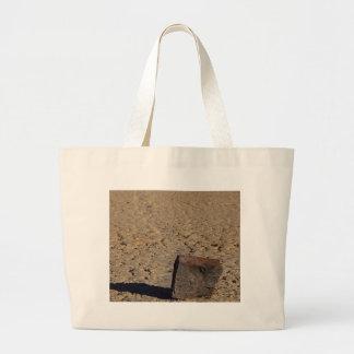 Racetrack Playa Sliding Stones Mud Canvas Bag