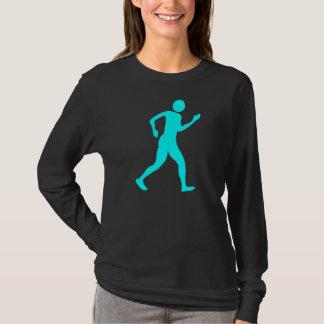 Racewalking - Cyan T-Shirt