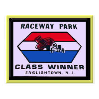 Raceway Park Postcard