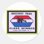 Raceway Park Round Sticker