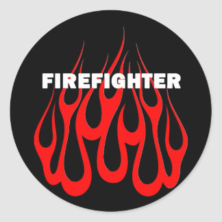 Racey Flames FF Round Stickers