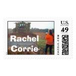 Rachel Corrie and bulldozer Postage Stamp