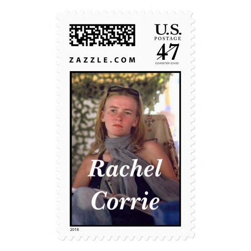 Rachel Corrie with scarf Postage
