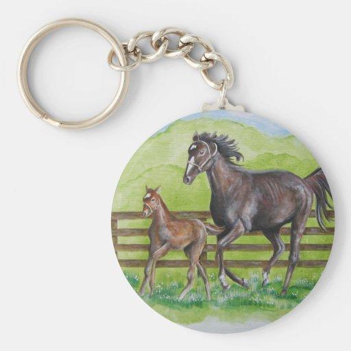 Rachel & Curlin Colt Basic Round Button Keychain