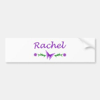Rachel (Purple Butterfly) Bumper Sticker