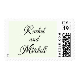 Rachell and Mitchell Monogram Postage