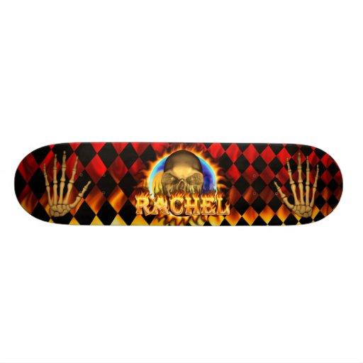 rachelRachel skull real fire and flames skateboard