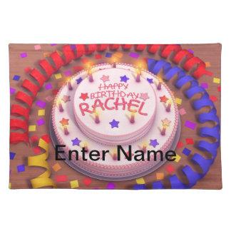 Rachel's Birthday Cake Cloth Placemat