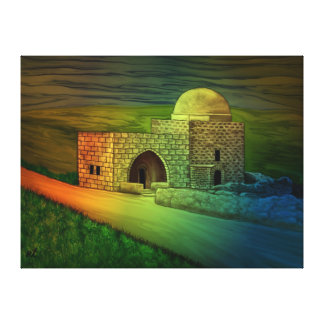 Rachel's Tomb on the by rafi talby Canvas Print