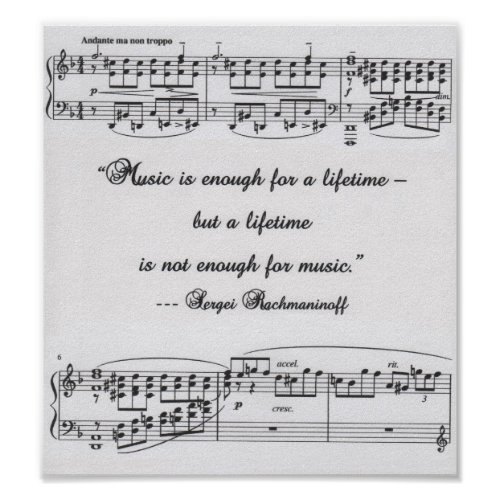 Rachmaninoff quote poster