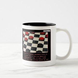 Racial Activist Checkers Two-Tone Coffee Mug
