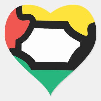 Racial Harmony Heart Sticker