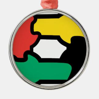 Racial Harmony Metal Ornament