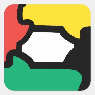 Racial Harmony Square Sticker